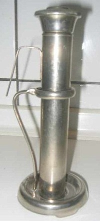 Tube with lid, hook, and stand