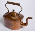 oval kettle s-shaped spout