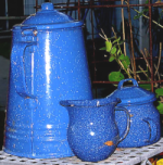 Speckled coffee pot, jug etc.